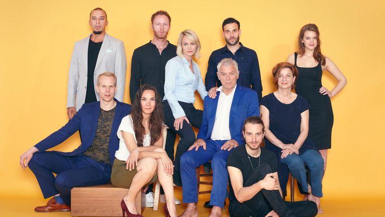 Theatergroep Oostpool met oa Hans Dagelet en Abe Dijkman Beeld Daniël Cohen