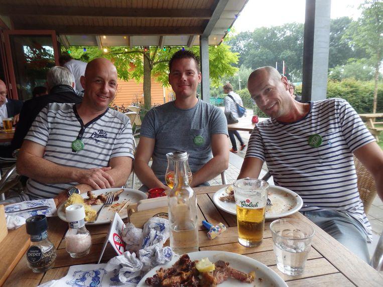 Waar zijn Arjan Schreurs, Bart Bluijs en Remco Lafeber (Markus) het trotst op? 'Het straatwerk.' En: 'Op het proces. Dat het er gekomen is' Beeld Schuim