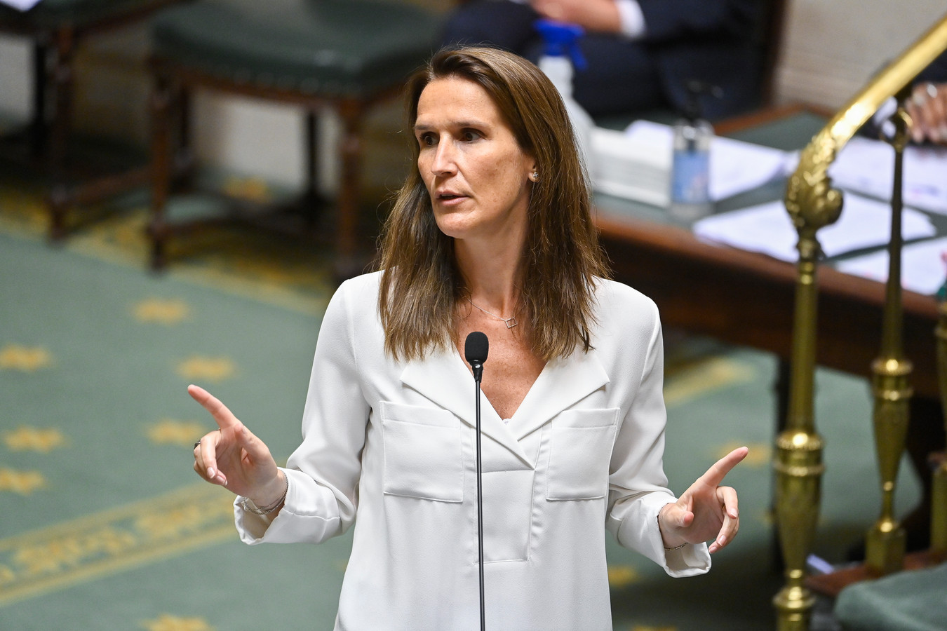 La ministre des Affaires étrangères Sophie Wilmès (MR) à la Chambre, le jeudi 24 juin 2021.