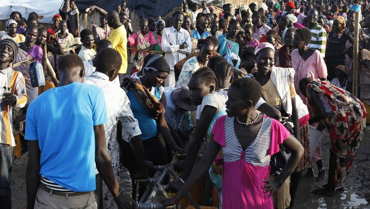 Vluchtelingenkamp in Zuid-Soedan Beeld null