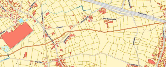 De pijpleiding doorkruist Herentals ten noorden van Noorderwijk