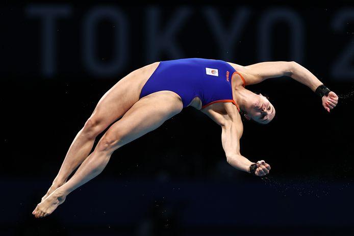 Celine van Duijn in actie tijdens de Olympische Spelen in Tokio, vorige week.