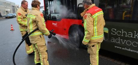 Brandje door defecte rem lijnbus in Eindhoven