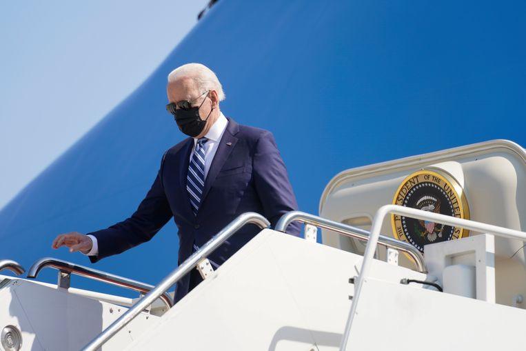 De internationale druk op Biden om een actievere rol in het conflict te spelen nam de afgelopen dagen toe. Beeld AP