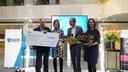 Han van Doorn (links op de foto) won zowel de publieksprijs als de eerste prijs van de jury in Start-up Plus.