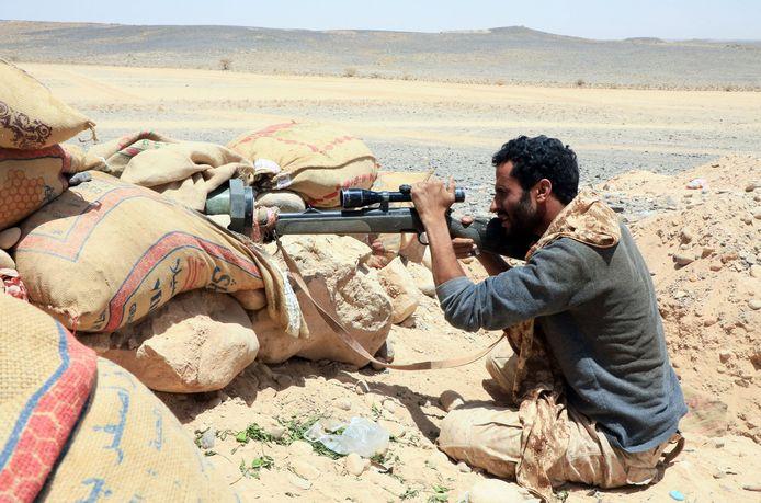 Soldat yéménite loyaliste