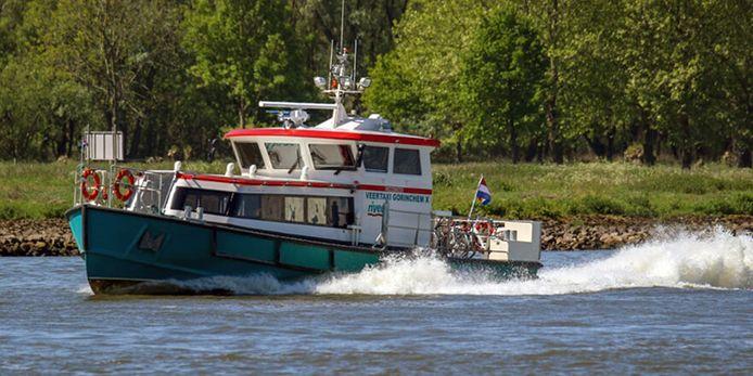 Veerpont Gorinchem X ligt vanaf maandag 18 oktober op de werf.
