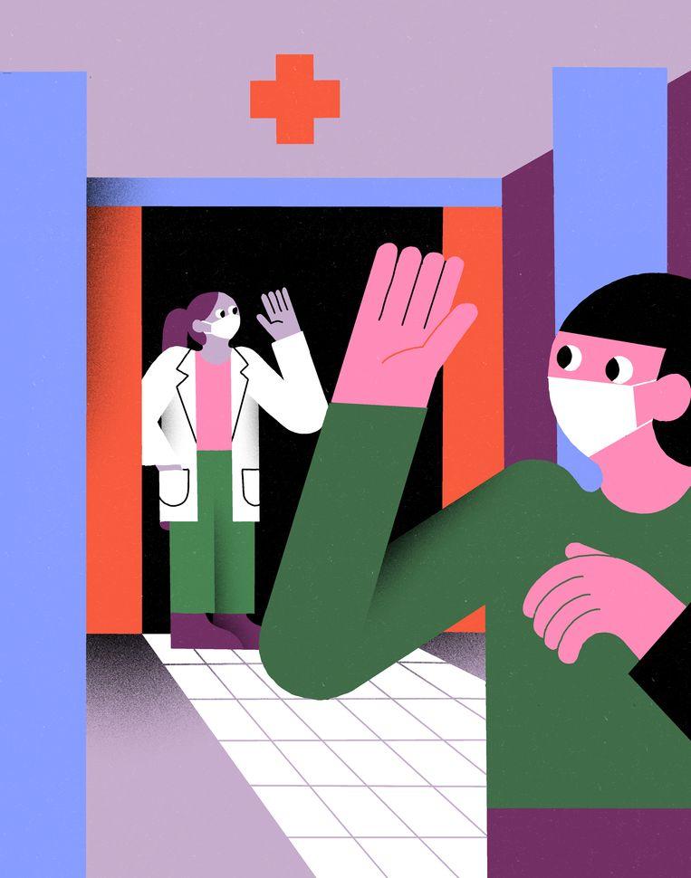 Steven Van Gucht, viroloog (Sciensano): 'Zelftesten zullen een rol spelen, maar zijn niet de grote gamechanger. De enige gamechanger is het vaccin.'  Beeld Levi Jacobs
