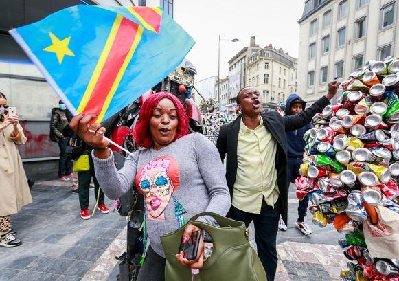 De bewoners van de Brusselse Matongéwijk vierden gisteren 60 jaar Congolese onafhankelijkheid, al was het voor velen eerder een aanklacht dan een feest.