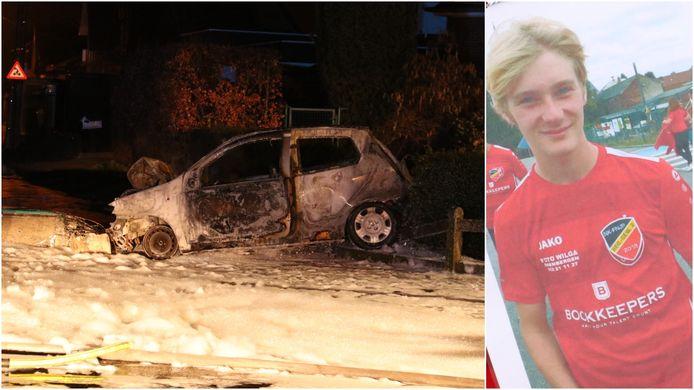 Simon Van Den Broeck (18) knalde met zijn auto tegen een verlichtingspaal en overleefde de klap niet.