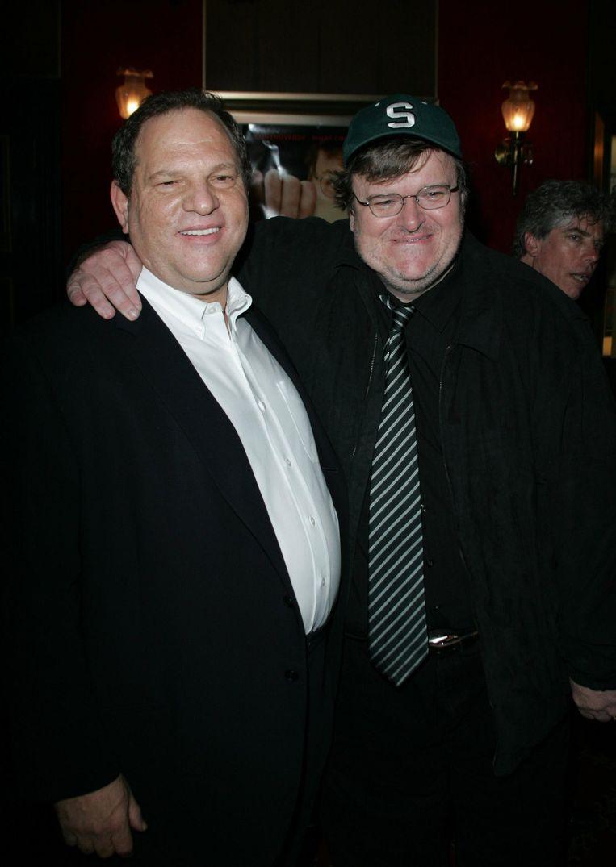 Michael Moore werkt met Weinstein aan een film over Donald Trump. Beeld WireImage