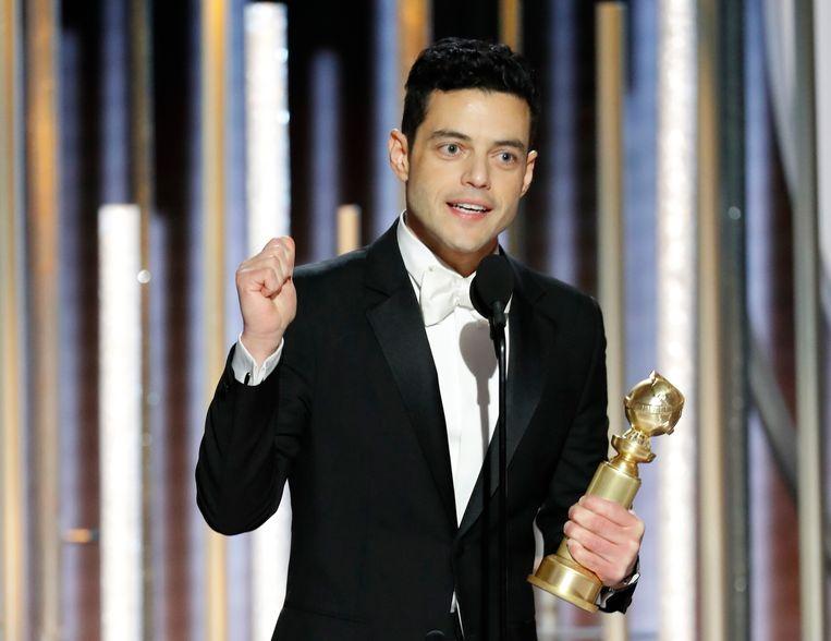 Rami Malek ('Bohemian Rhapsody') is een van de grote winnaars. Beeld REUTERS