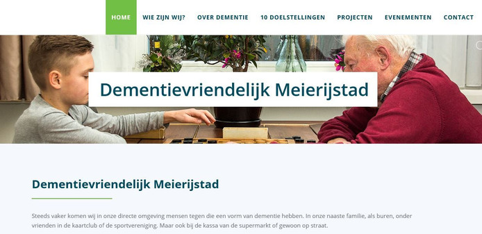 De nieuwe website dementievriendelijkmeierijstad