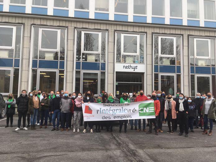 Les travailleurs d'Intégrale en faveur d'une grève de 24 heures.