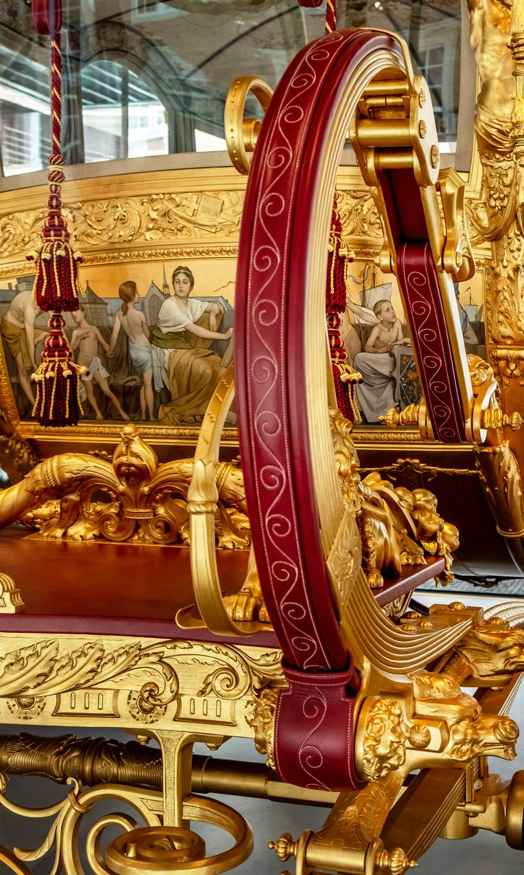 In 2015 besloot koning Willem-Alexander de Gouden Koets te laten restaureren. Beeld Raymond Rutting / de Volkskrant