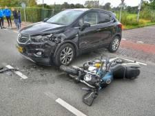 Motorrijder gewond bij aanrijding met auto in Valkenswaard