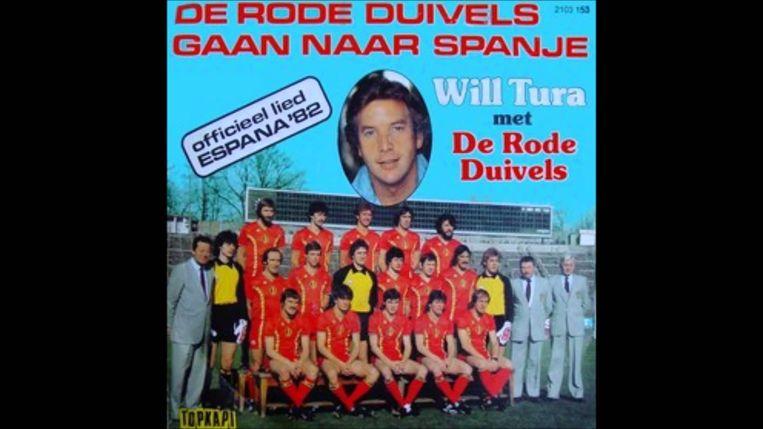 De Rode duivels gaan naar Spanje. Will Tura. Beeld Kos