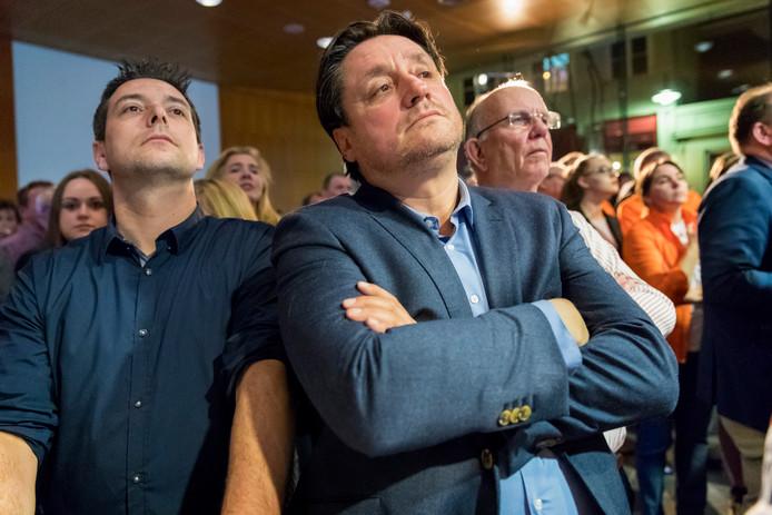 Nol Roos van de BVP tijdens de uitslag van de gemeenteraadsverkiezingen in maart van dit jaar.