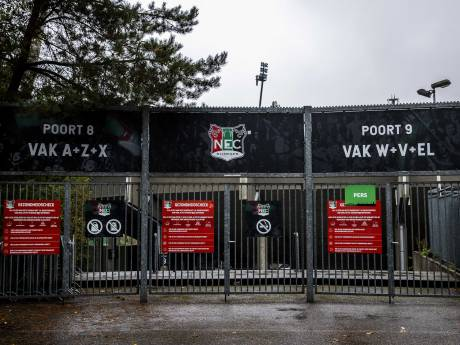 NEC lijkt veroordeeld tot spelen in leeg eigen stadion: 'De club staat er niet goed op bij meerdere gemeenten'