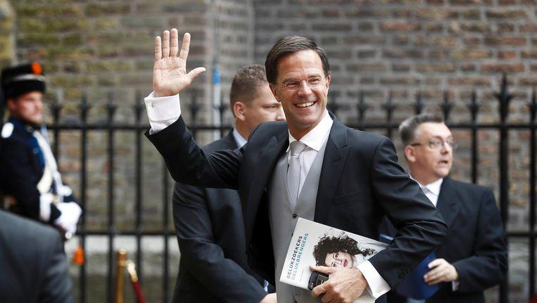 Premier Mark Rutte arriveert bij de Ridderzaal Beeld anp