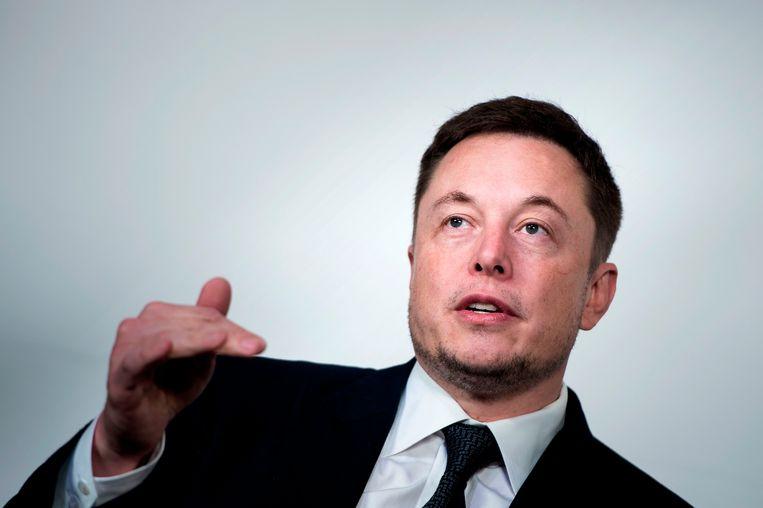 Tesla-topman Elon Musk. Beeld AFP