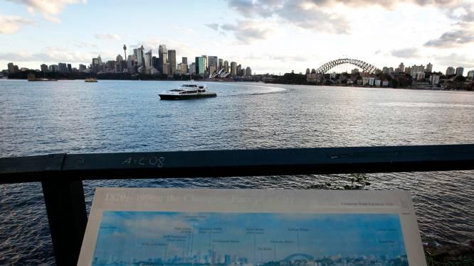 Ferry botst tegen walvis en jong in haven van Sydney
