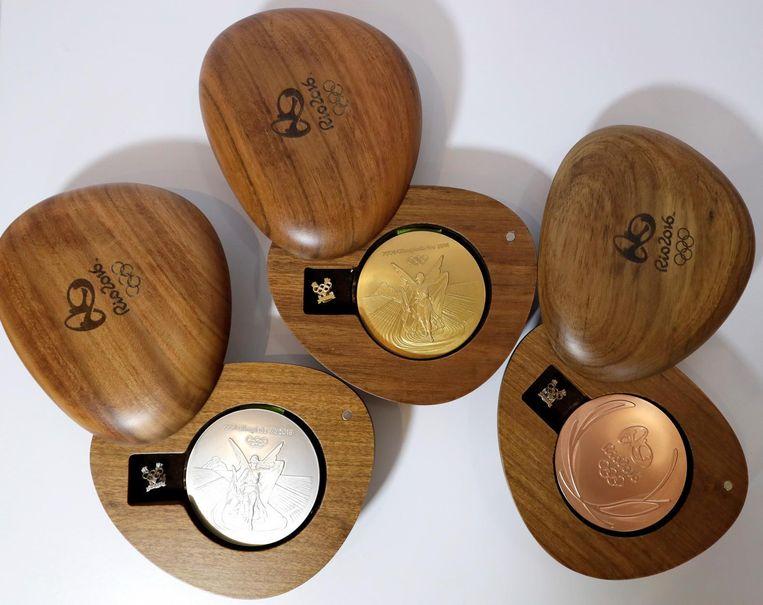 De medailles voor de Spelen in Rio. Beeld ap