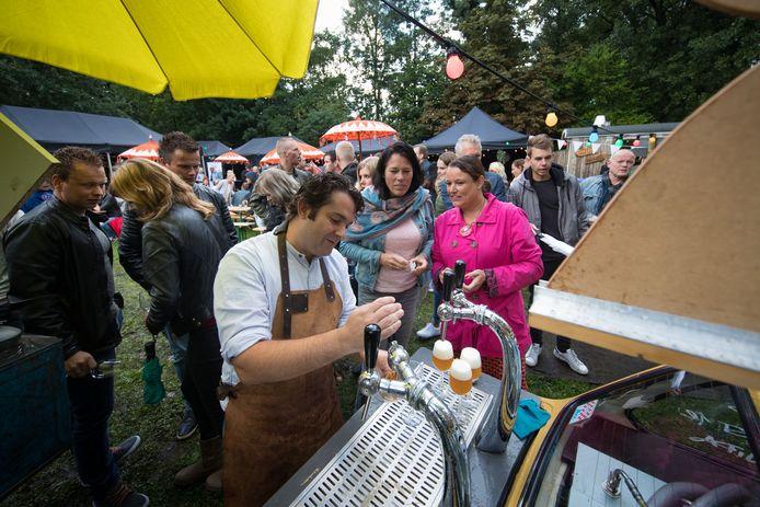De eerste editie van het Hops & Grapesfestival in Kampen trok vorig jaar september zo'n 750 bezoekers.