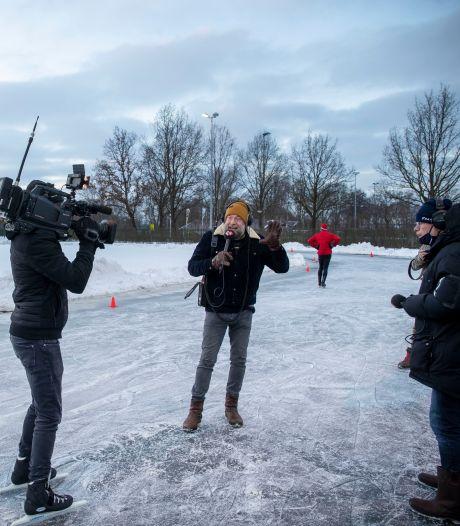Thuiswedstrijd voor Radio 2 dj Jan-Willem Roodbeen: presenteren vanaf het Veenendaalse ijs