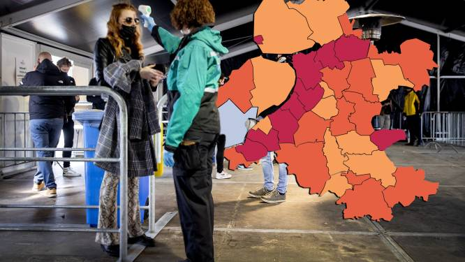 KAART | Gehele Biblebelt kleurt wederom rood op coronakaart, piek in Zwartewaterland