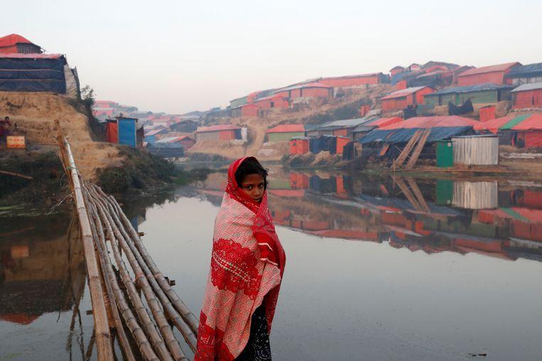 Het vluchtelingenkamp Balukhali in Bangladesh. Beeld REUTERS