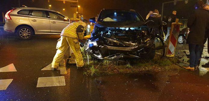 Veel schade na het ongeluk bij Hengelo