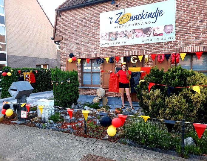 Emily De Coster van 't Zonnekindje in de Langerbrugsestraat in Evergem