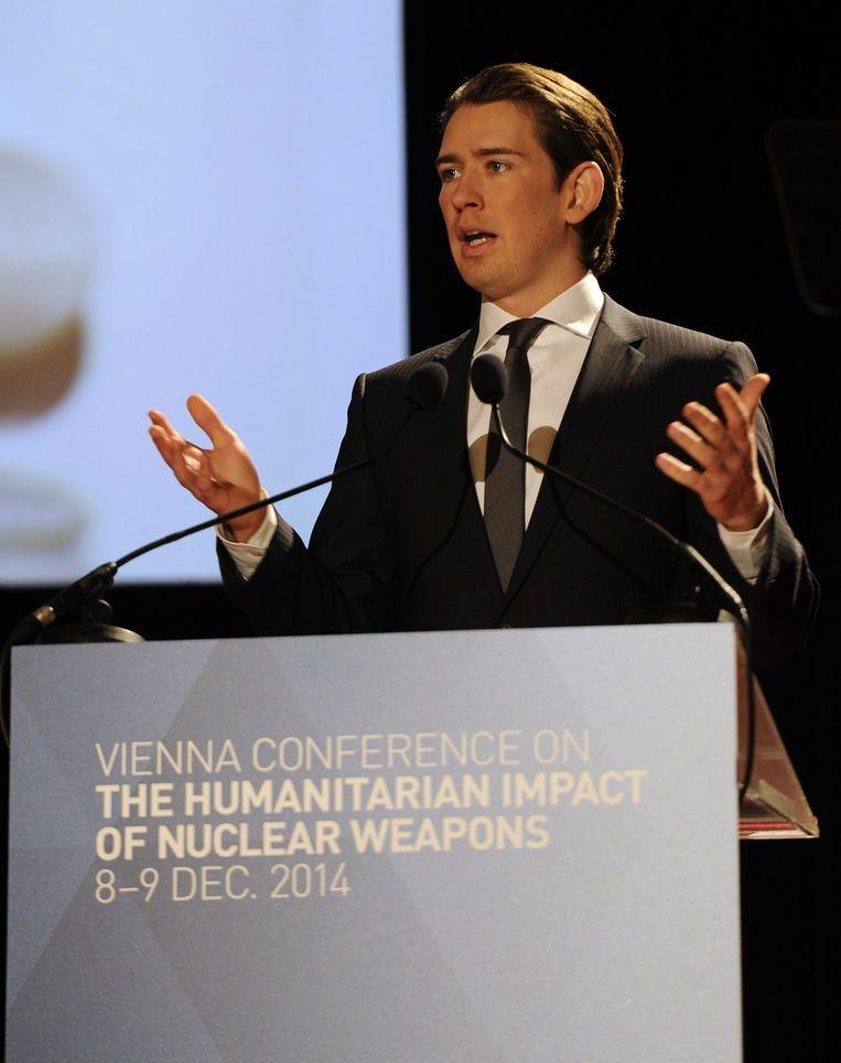 Sebastian Kurz, de Oostenrijkse minister van Buitenlandse Zaken.
