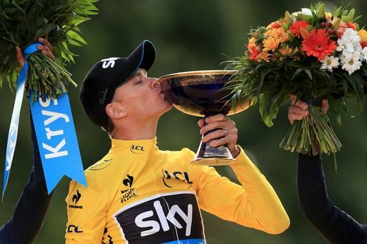 Froome in 2015 na zijn tweede eindzege in de Tour de France.
