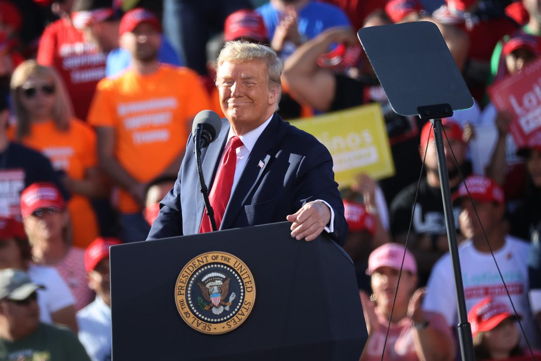 Op dinsdag 3 november beslissen de Amerikanen of Donald Trump nog vier jaar langer in het Witte Huis mag verblijven. Beeld Getty Images