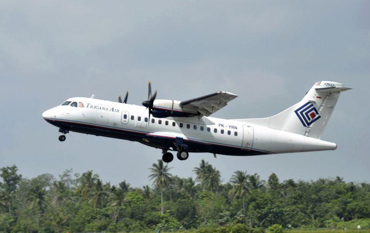 Een soortgelijk ATR42-300 toestel van Trigana Air is neergestort. Beeld AP