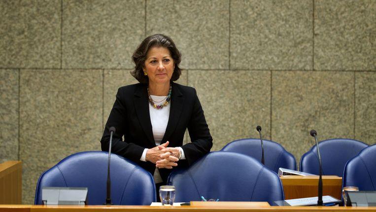 Staatssecretaris van Volksgezondheid, Welzijn en Sport Marlies Veldhuijzen van Zanten half februari in de Tweede Kamer. Beeld ANP