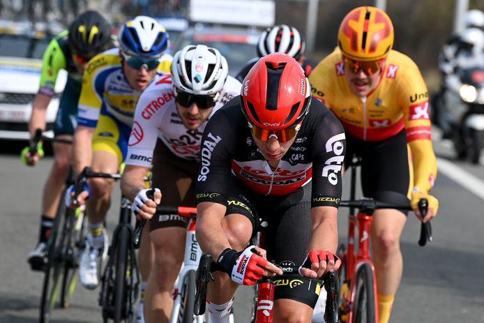 Gerben Thijssen (Lotto-Soudal) reed met vijf andere renners een tijdje voorop in de Oxyclean Classic Brugge-De Panne.