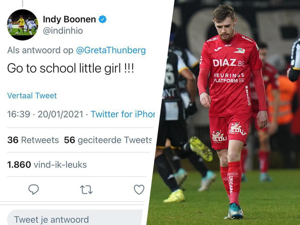 Indy Boonen kreeg een stortvloed aan reacties na een tweet richting Greta Thunberg.