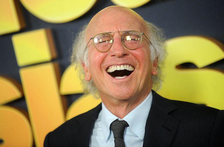 Larry David kan wel lachen met het nieuwe seizoen van 'Curb your enthusiasm'. Beeld Photo News