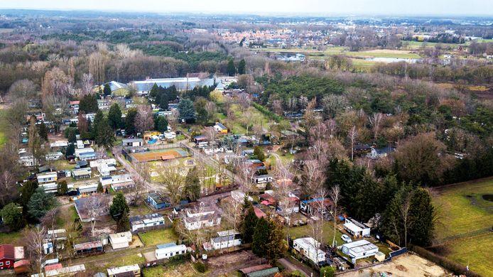 Camping Wighenerhorst vanuit de lucht.