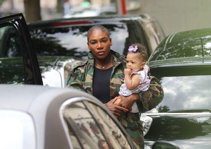 Serena Williams avec sa fille.