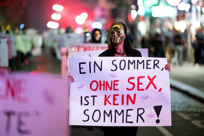 Manifestation des travailleurs du sexe, fin juillet, à Hambourg