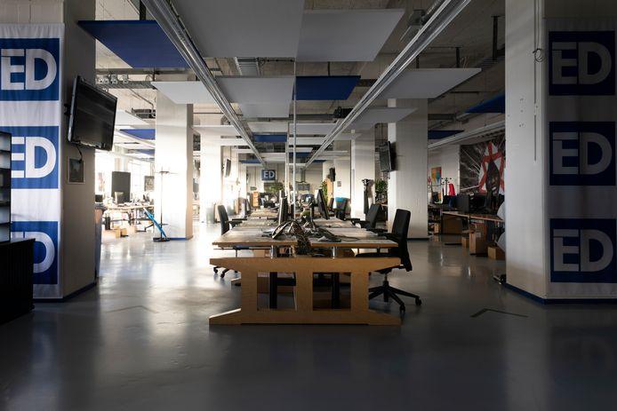 De verlaten redactie van het Eindhovens Dagblad op Strijp-S