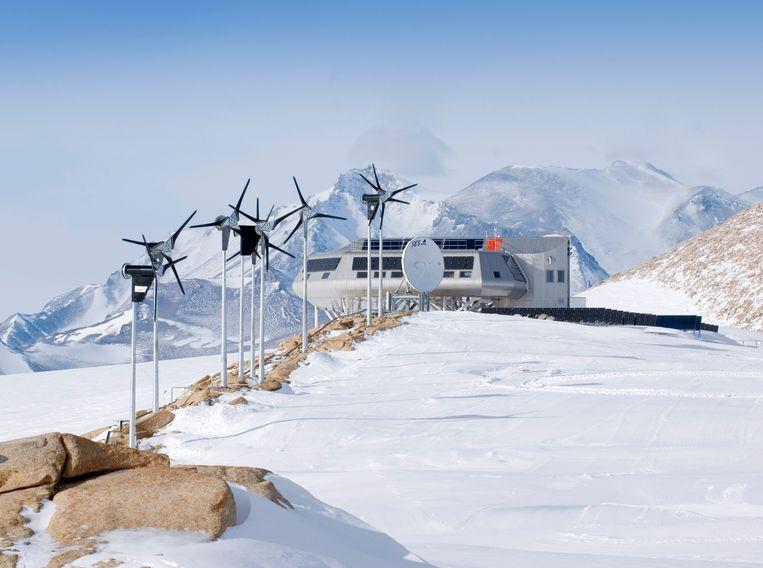 De Prinses Elisabethbasis op Antarctica Beeld BELGA