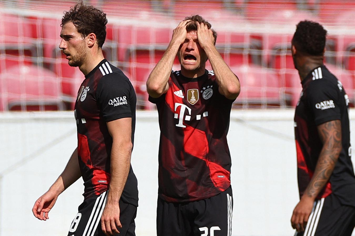 Leon Goretzka, Thomas Müller en Jérôme Boateng.