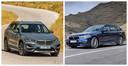 De BMW X1 (links) en 5-Serie komen ook als elektrische auto