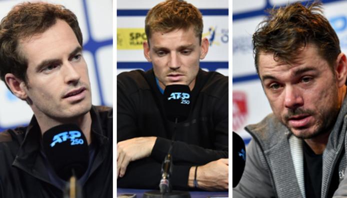 Andy Murray, David Goffin et Stan Wawrinka