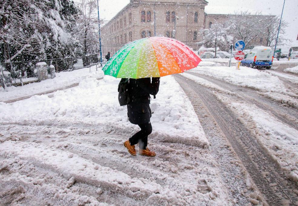 Foto van Wereldwijd sneeuwtapijt